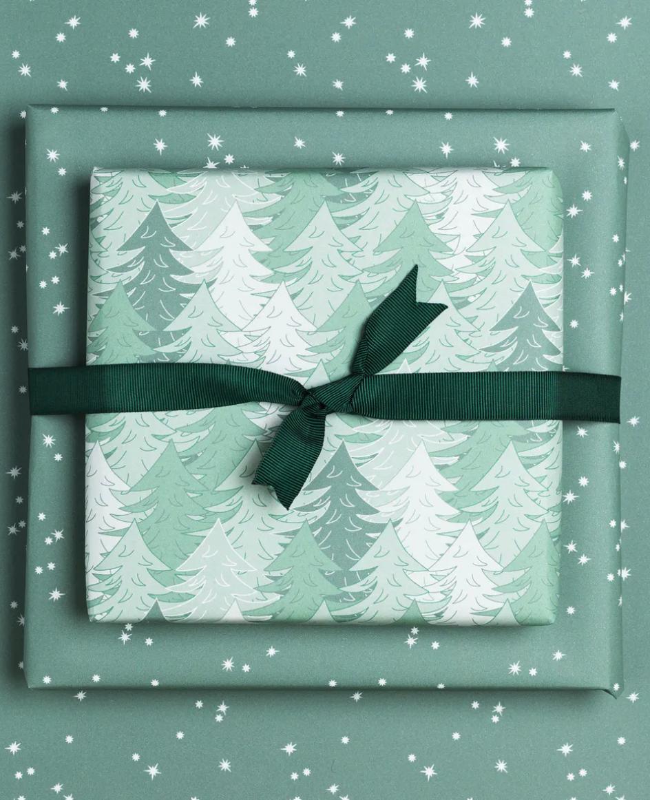 Geschenkpapier «Wald» - doppelseitig