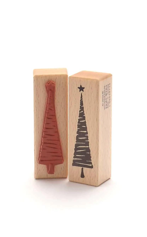Weihnachtsbaum mit Streifen