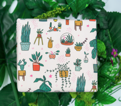 Geschenkpapier Zimmerpflanzen