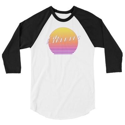 City Circuits Unisex 3/4 Sleeve Raglan Shirt
