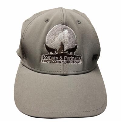 Gorra gris Logo bordado