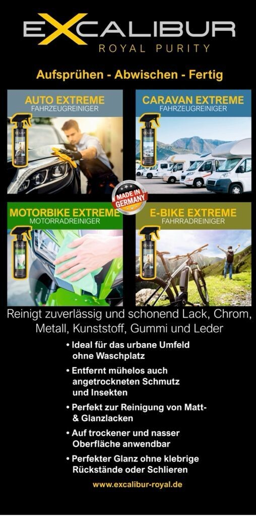 Excalibur Royal Purity Premium Pflegemittel Caravan Wohnmobile, Motorrad