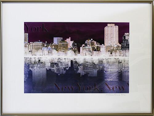 New York, New York framed