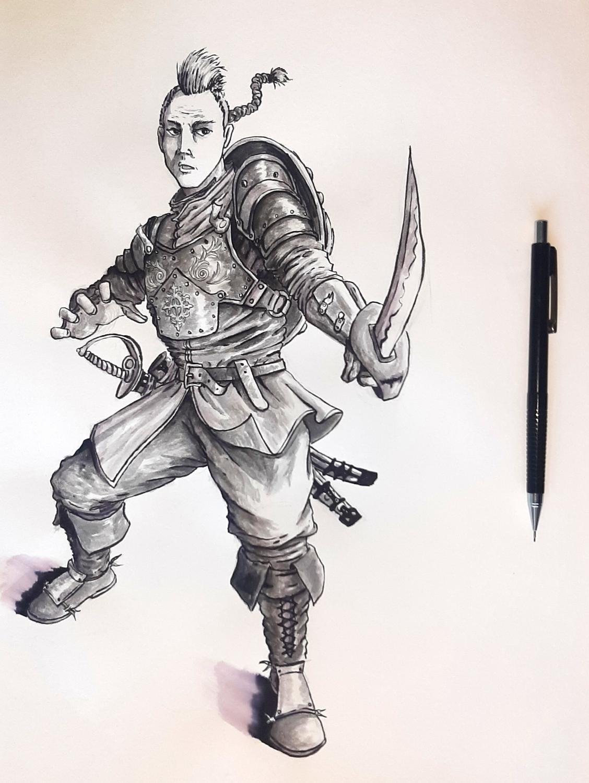 Knight (original print)