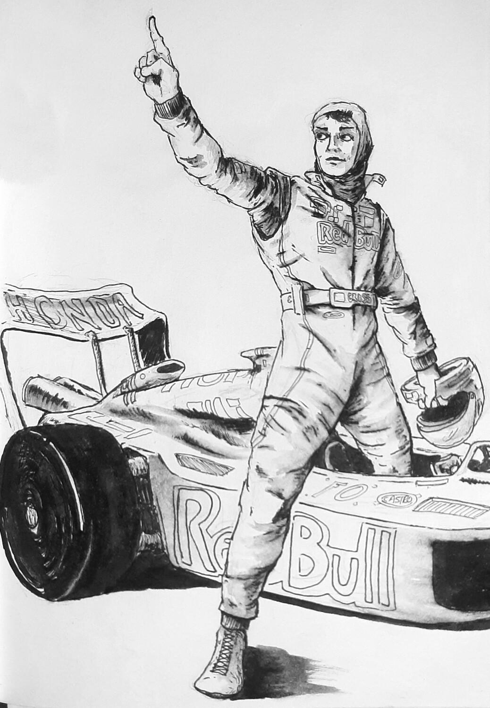 F1 Driver (original print)