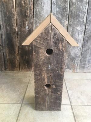 Rustic 2 Hole Birdhouse