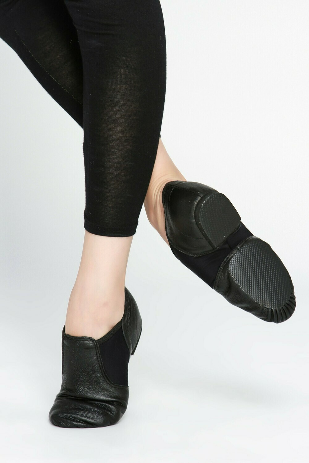 Neoprene Arch Split Sole Leather Jazz Shoes