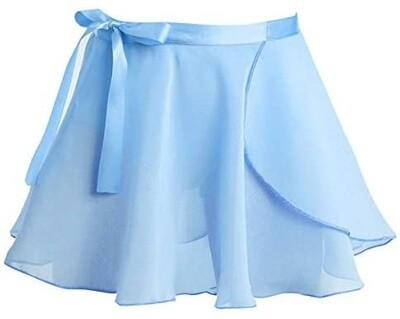 Clearance Children's Light Blue Wrap Skirt *Final Sale