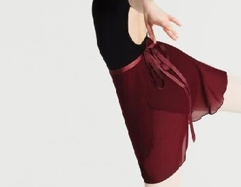Clearance Adult Burgundy Wrap Skirt *Final Sale
