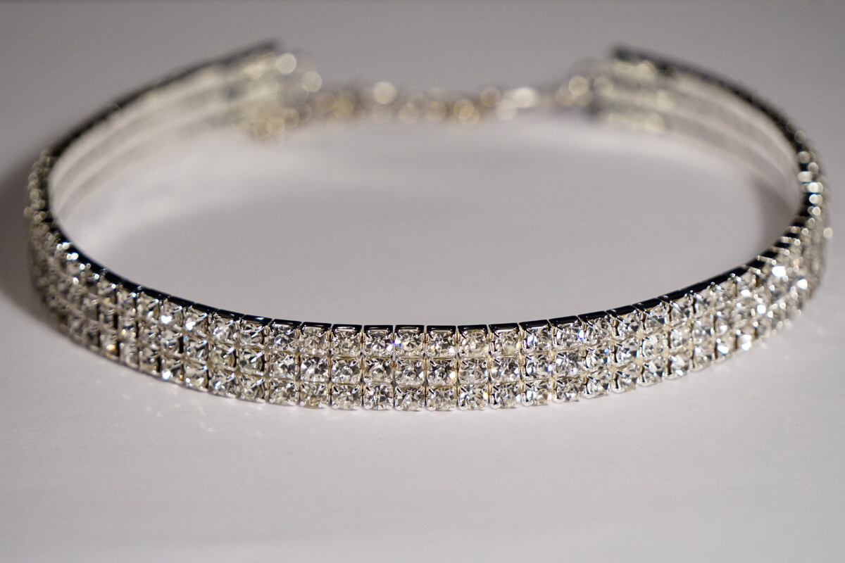 Clearance 3-Row Crystal Choker Necklace *Final Sale