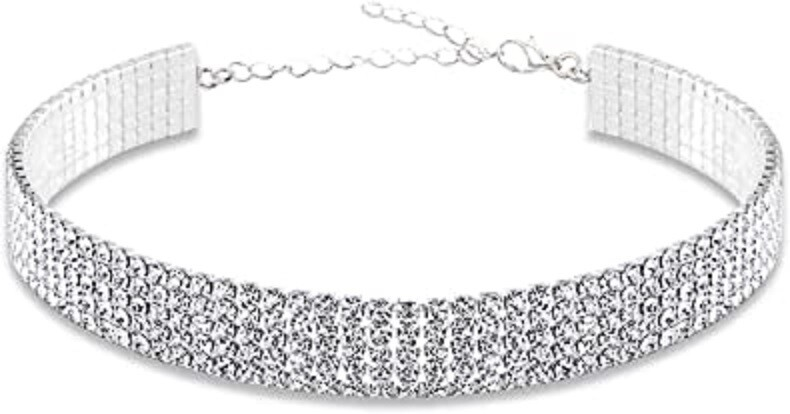 Clearance 5-Row Crystal Choker Necklace *Final Sale