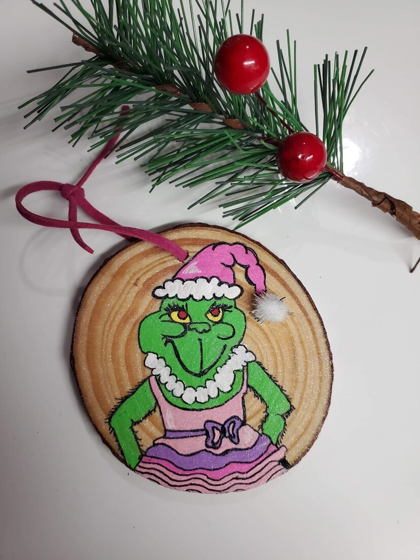 Handmade Ballet Grinch Ornament