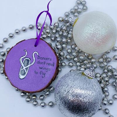 Handmade Ballet Slipper Ornament