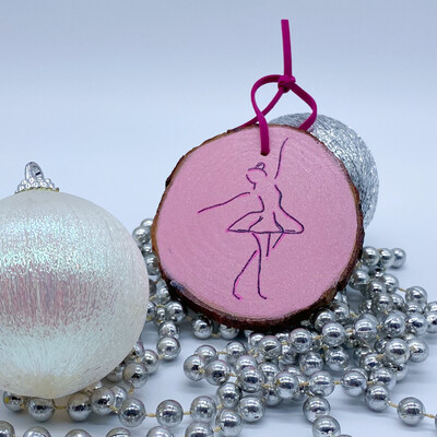 Handmade Dancer Ornament Pink