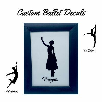 Custom Ballet Decal (Figure and Name)