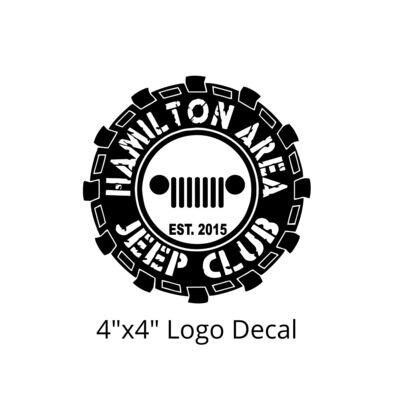 HAJC Round Logo Decal