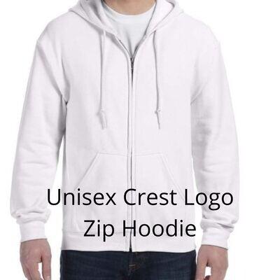 Blank Unisex Zip Hoodie