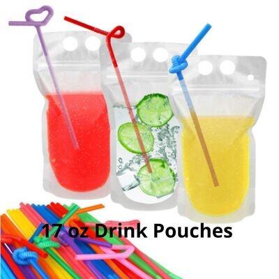 Blank 17 oz Logo Drink Pouch