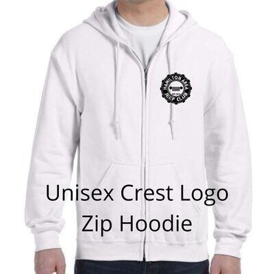 HAJC Unisex Crest Logo Zip Hoodie