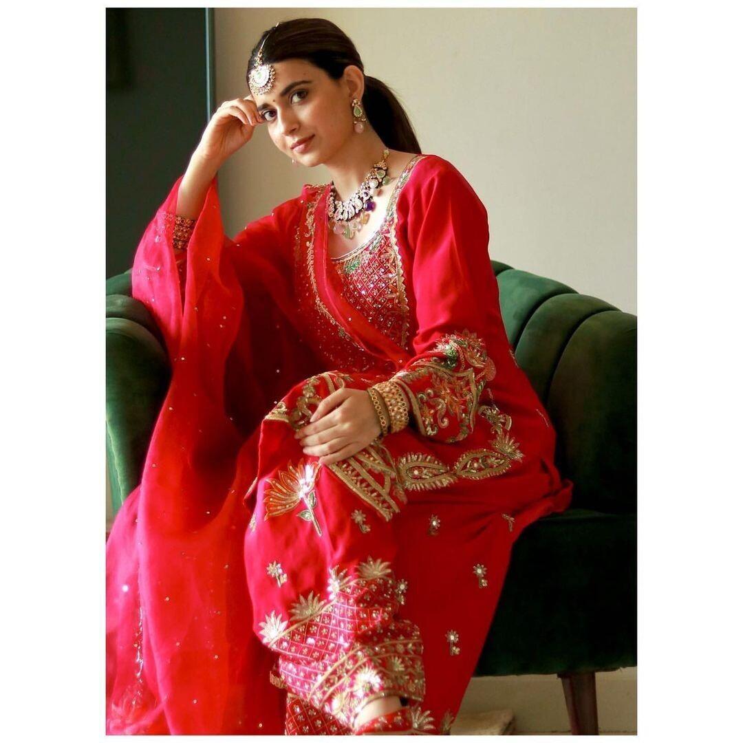 Nimrat Khaira Red Suit
