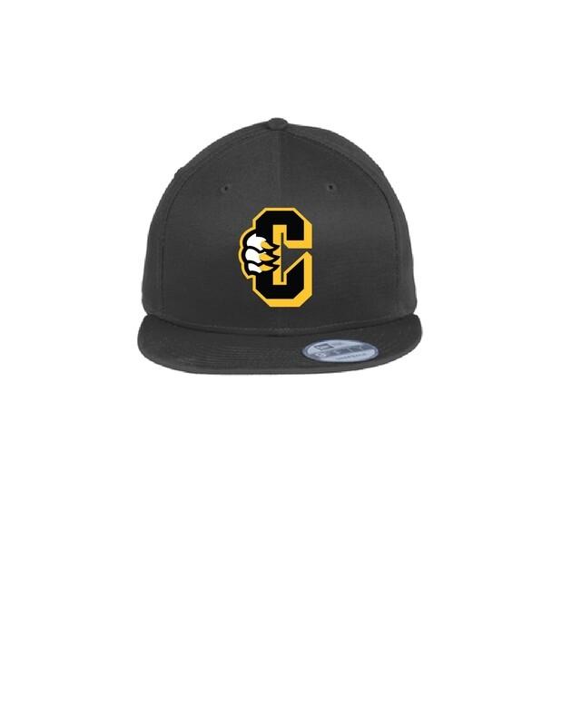 New Era Flat Bill Snapback C Logo Hat