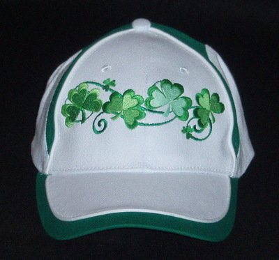 Ireland Shamrock Embroidered Baseball Cap