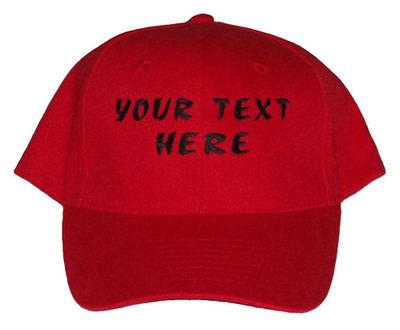 Baseball Caps - 8 Colours - Choose Your Own Text & Colour