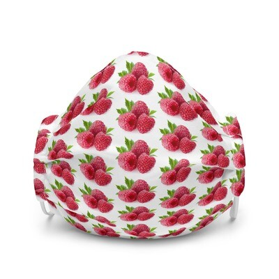 Raspberry Raspberries Fruit Premium face mask