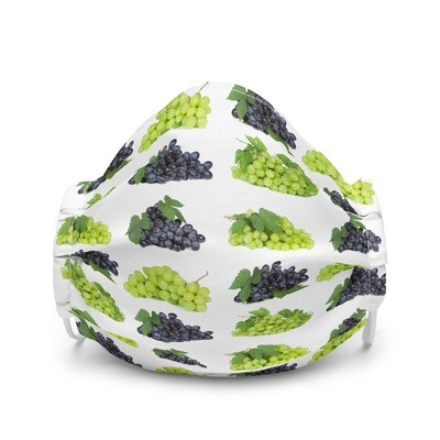 Grapes Green Red Premium face mask