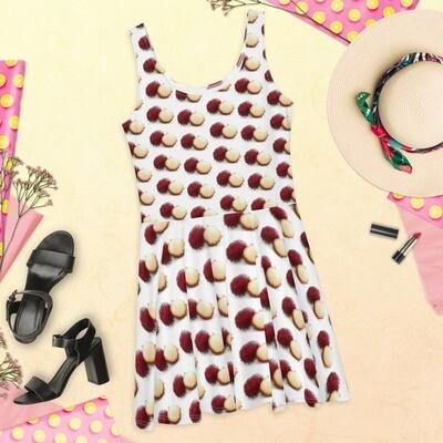 Lychee Fruit Lover Printed Skater Dress