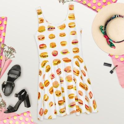 Hamburger Skater Dress Food Lover Munchies Polyester
