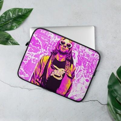 Grunge 90's Graffiti Pink Laptop Sleeve