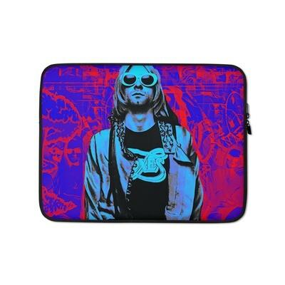 Grunge Graffiti Purple 90's Laptop Sleeve