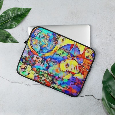 Funky Cool Laptop Sleeve with 80's Music Art