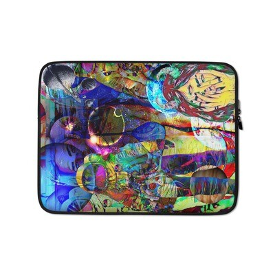 Cool Space Art Laptop Sleeve with Graffiti
