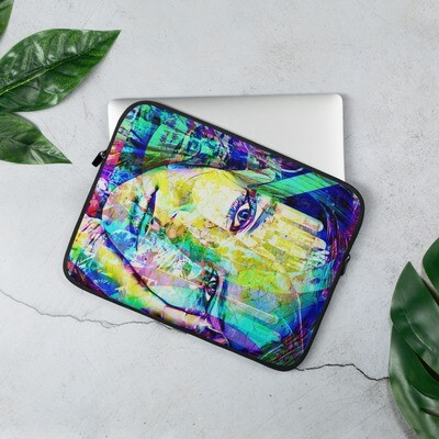 School ready Laptop Sleeve with Graffiti Art