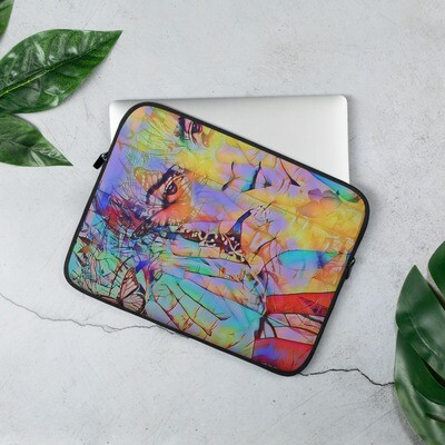 Cool Esoteric Graffiti Laptop Sleeve in Neoprene