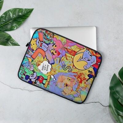 Cool Cartoon Art Laptop Sleeve with Graffiti
