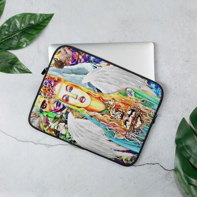 Graffiti Angel Art Girl Laptop Sleeve