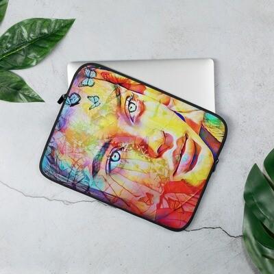 Beautiful Girl Face Graffiti Laptop Sleeve Neoprene