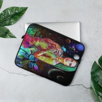 Laptop Sleeve with Sensual Lit Graffiti Art
