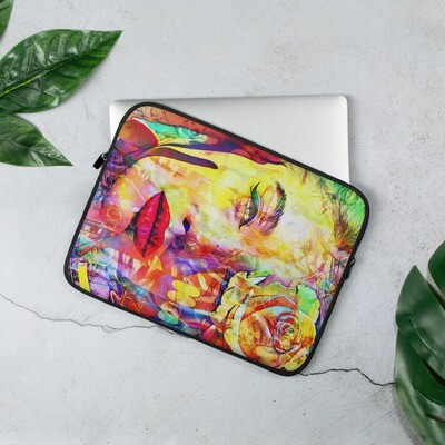 Cool Back to school Laptop Sleeve with Colorful Art Neoprene