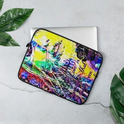 Sick Artsy Laptop Sleeve with Cool Girl Graffiti