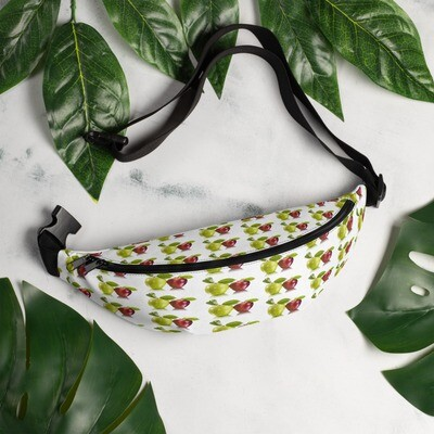 Red and Green Apple Fruit Print Fanny Pack Polyester