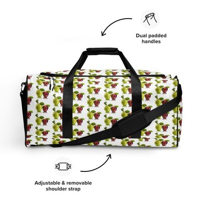Red and Green Apples Fruit Print Duffle bag Polyester