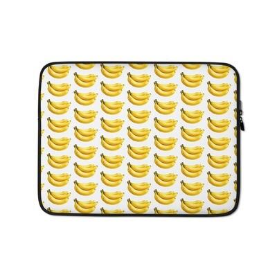 Bananas Fruit Print Laptop Sleeve