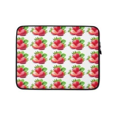 Strawberry Strawberries Fruit Print Laptop Sleeve