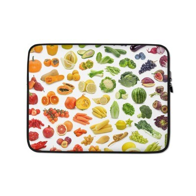Fruits Vegetables Colorful Print Laptop Sleeve