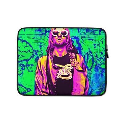 Grunge 90's Graffiti Green Laptop Sleeve
