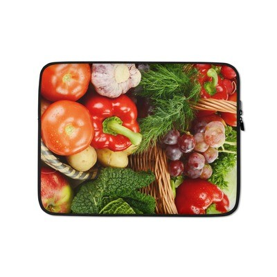 Fruits and Vegetables Print Laptop Sleeve